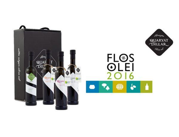Nuestro aceite de oliva virgen extra (aove) Quaryat Blend, recibe la máxima puntuación de la Guía Flos olei de Marco Oreggia
