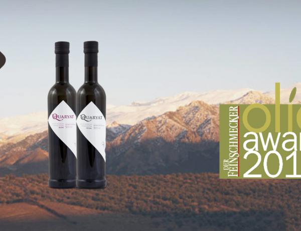 Dos de nuestros aceites de oliva, Quaryat Picual y Blend están entre los 250 mejores aove del mundo según muestran los resultados de la competición internacional que realiza la revista Der Feinschmecker alemana