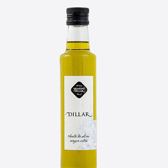 Glass bottle of 250ml. extra virgin olive oil Dillar