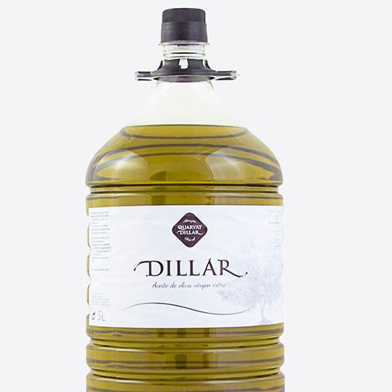 extra virgin olive oil in 5 liters bottle dillar