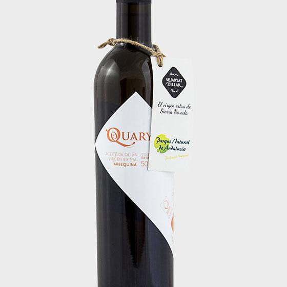 Aceite de oliva virgen extra Quaryat Arbequina con cuello de botella