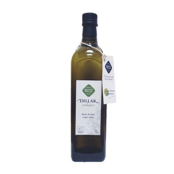 Aceite de oliva virgen extra ecologico. Cosecha semi temprana prensado en frío.